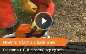 Watch Video - How To Start A Chainsaw